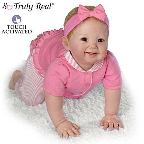 Сенсорная кукла подвижная - Я сама ползаю!