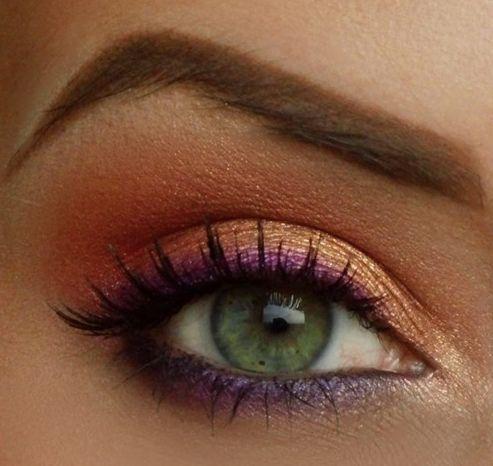 orange eyeshadow make up pinterest summer spring and eyes. Black Bedroom Furniture Sets. Home Design Ideas