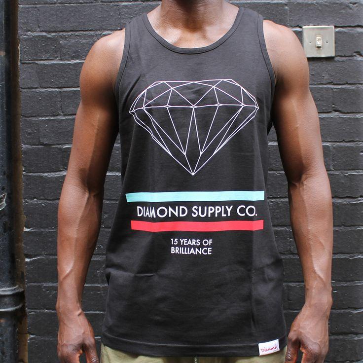 Diamond Supply Co. 15 Years Of Brilliance Tank Top Black £24.99