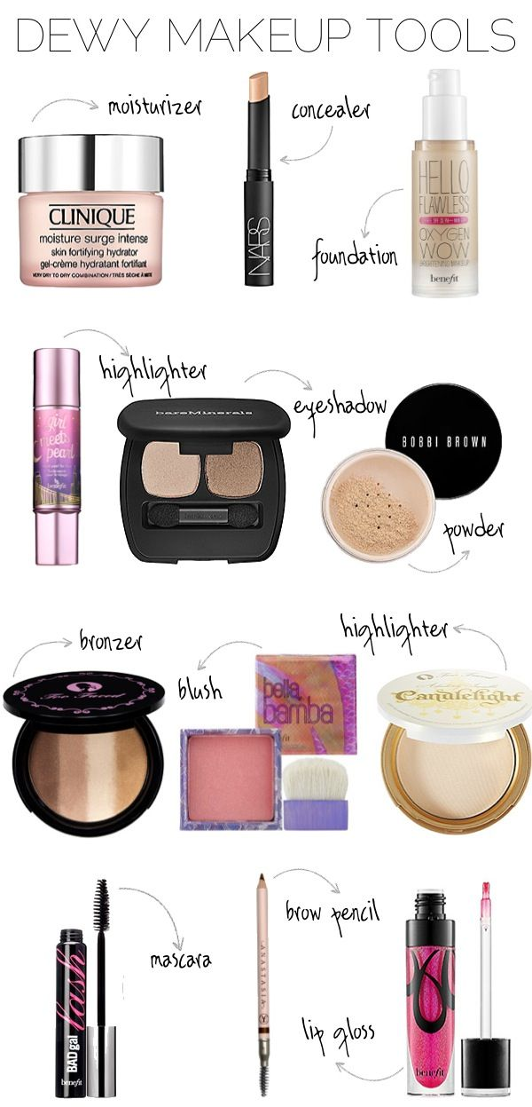 Dewy Makeup Tools via Blonder Ambitions {www.blonderambitions.com}