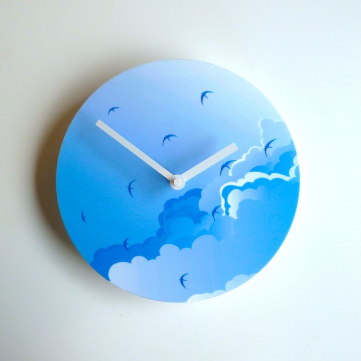 Objectify Clock - Time Flies | The Red Dog Gift Shop - Buy Online - NZ New Zealand - Motueka, Nelson