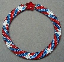 142 best bead patriotic images on pinterest for Patriotic beaded jewelry patterns
