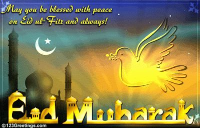 May you be blessed with peace this Eid -al-fitr