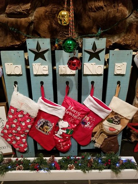 Christmas Stocking Holding Rustic