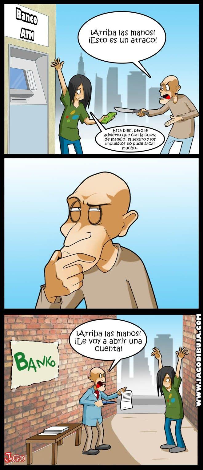 [Webcomic] Atraco a mano 'armada'.