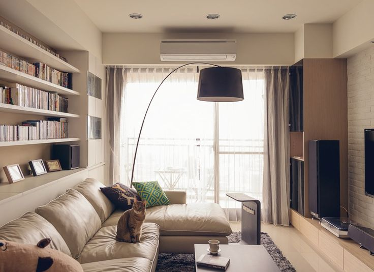 Дизайн двухкомнатной квартиры - интерьер гостиной