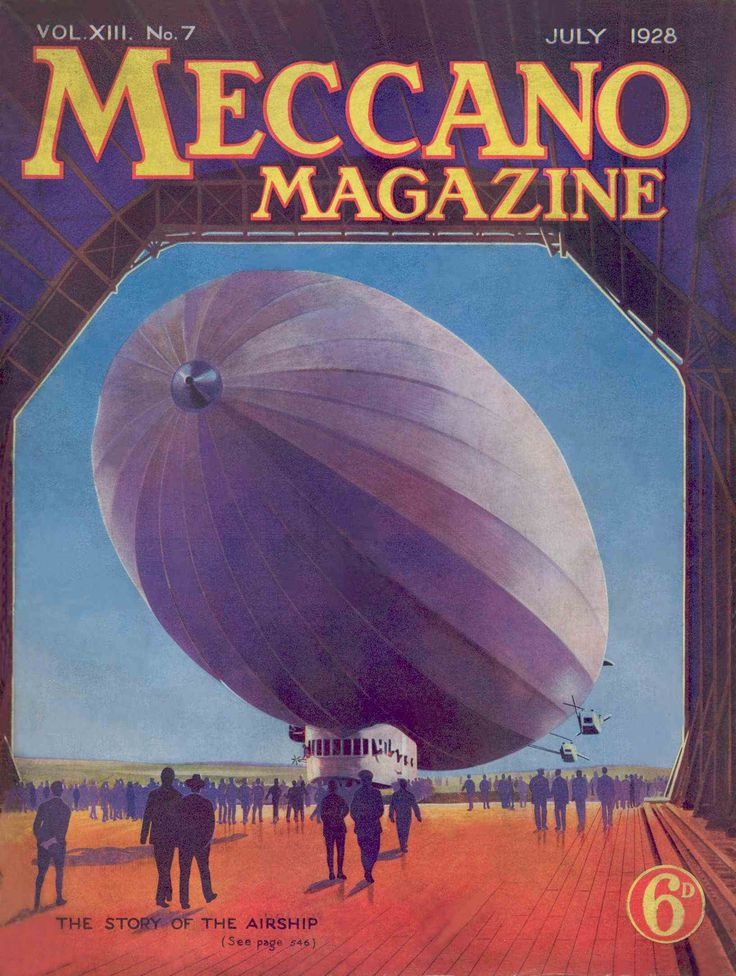 Meccano Magazine July 1928 Front cover Book Covers