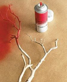 Make faux coral by spray-painting branches! For a step by step of a reef centerpiece, go here   http://www.marthastewart.com/267868/reef-centerpiece?