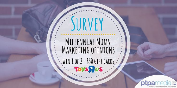 Tell us what YOU think, take this short survey and get entered for a chance to #WIN 1 of 2 ToysRus gift cards! Link: https://www.surveymonkey.com/r/WSMYVZP