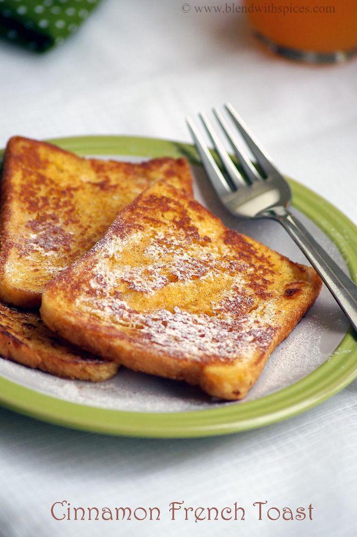 Eggless Cinnamon French Toast Recipe