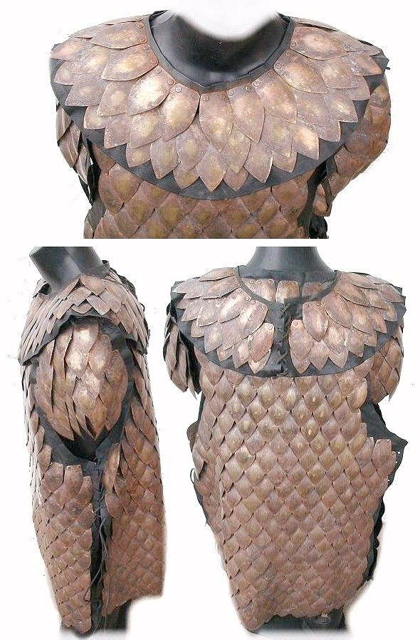 pangolin armour made of the scales of a pangolin similar to an armadillo