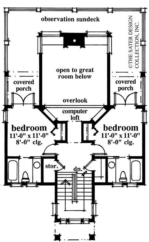 amazing house plans designs direct #4: The Church Street House Plans Second Floor Plan - House Plans by Designs  Direct. Kitchen