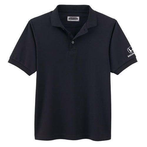 Men's Performance Polo Shirt. 8.8 oz. polyester pique with wicking and antibacterial finishes. Honda logo embroidered on left sleeve.