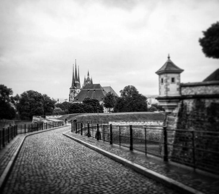 Welch Blick auf eine inspirierende Stadt - Erfurt.  #travelphotography #bw #bnw_captures  #bnw_life #bnw #autor #outofthephone #discovermore #lovemylife #happy #iphone6 #instatravel #shotoftheday  #enjoy #bwlovers  #betweentheworlds #inbetween #travel  #discover #erfurt #writersconnection #photooftheday #photogrid #vsco #mpfund #munich #passionpassport