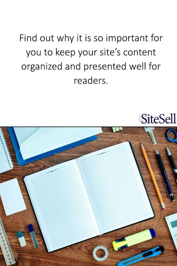 3 Business-Saving Benefits to Organizing Your WordPress Blog via @sitesell