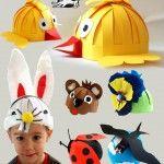 Level: medium // Damit die Kinderparty noch bunter wird // Gesehen bei: http://krokotak.com/2014/03/masks-hats-for-kids/