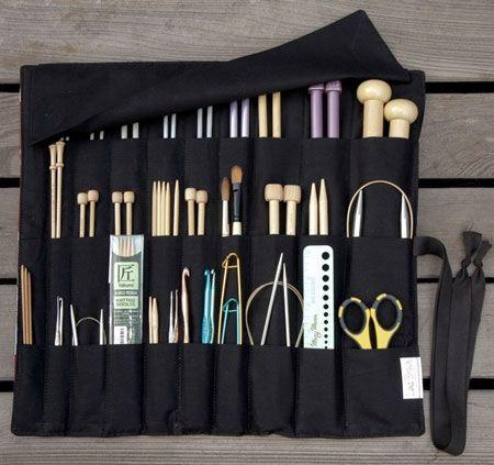 Organizing knitting needles | Unclutterer