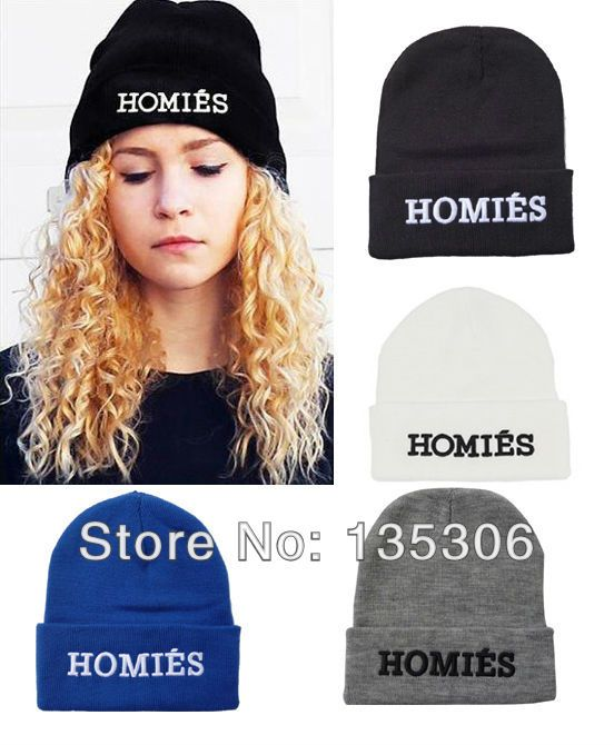 1Pcs Hot Selling New HOMIES Style Fashion Men Women Skull Beanie Hat Winter Fall Hiphop Warm Cap HA-7 € 2,90