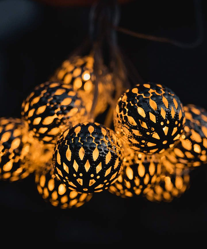 Round Solar LED Metal String Light #ad