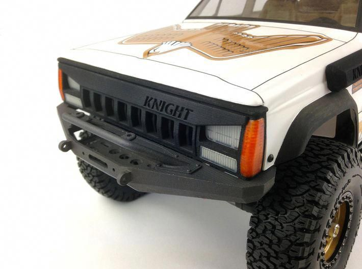 Xj10008 Xj Xrc Bumper Bullbar 3d Printed Shown Fitted To The Pro Line 92 Cherokee Body With The Knight Cust