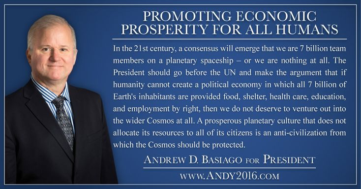 The Presidential platform of Andrew D. Basiago is found in his 100 Proposals – A New Agenda For A New America.