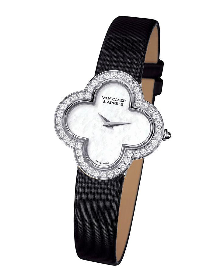Alhambra Sertie White Gold Watch, Small, Size: S - Van Cleef & Arpels