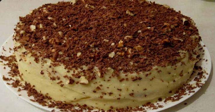Творожный торт с шоколадной стружкой