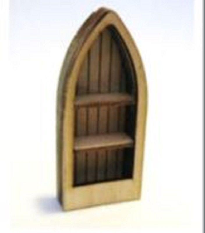 Dollhouse Miniature 1:24 Scale Boat Bookcase Kit #ME0179