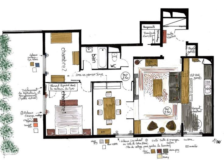 34 best Planche tendance images on Pinterest Planks, Mood boards - faire un plan d appartement en ligne