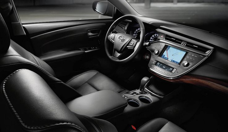 We LOVE the dark leather interior of the Toyota Avalon! #JapaneseCars  www.accurateautomotiveservices.com