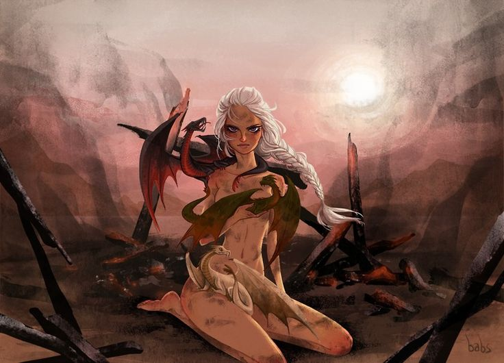 Awesome GAME OF THRONES Fan Art - Mother of Dragons and Jon Snow — GeekTyrant #got #agot #asoiaf