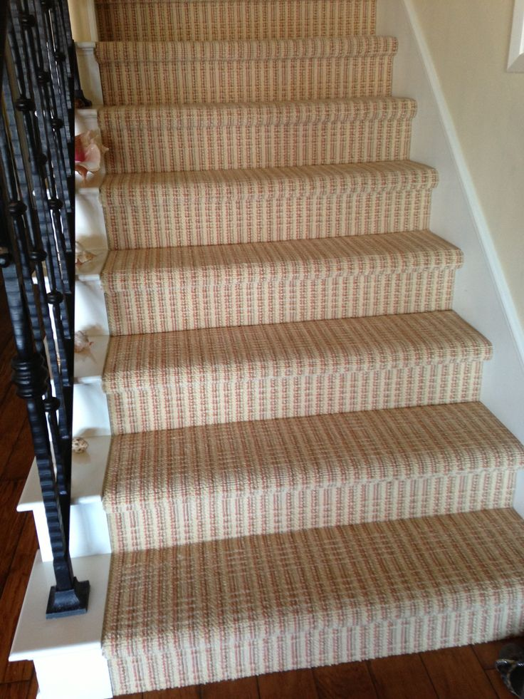 Great Updated Stripe Carpet On Stairs For A Client In Newport Beach, Makes A  Boring Staircase Come To Life, Seagrass Carpet Is Installed Upstairs.