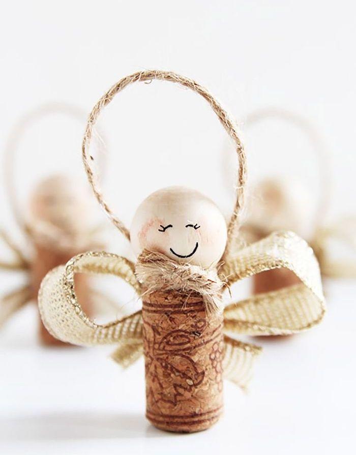 ▷ 1001 + idées originales de décoration de Noël à fabriquer pour adultes | Bricolage noel facile, Créations en bouchons de liège, Créations de noël