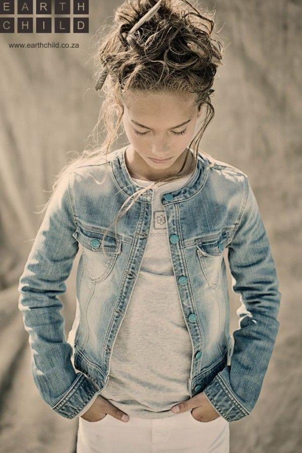 The perfect denim jacket.  #designer #Kids #fashion