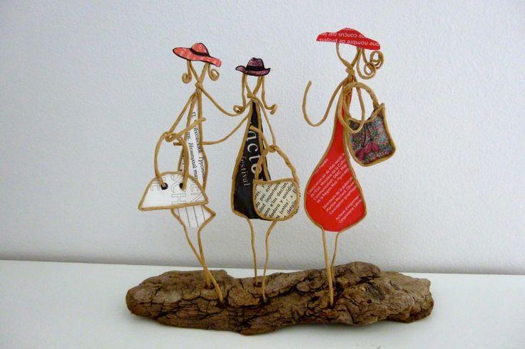 Les amies - figurines en ficelle et papier : Accessoires de maison par ficelleetpapier