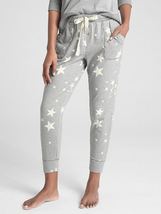99e111c2 Gap Women's Drawstring Joggers In French Terry Heather Gray Star in ...