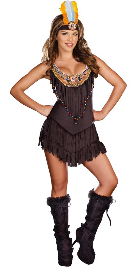 dreamgirl reservation royalty sexy native american costume peter pan and tinker bell costumes - Halloween Native American Costumes