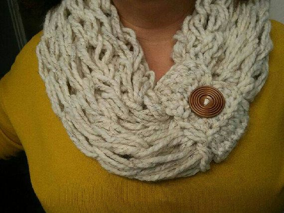 Check out this item in my Etsy shop https://www.etsy.com/listing/263912251/arm-knit-infinity-scarf-infinity-ascarf