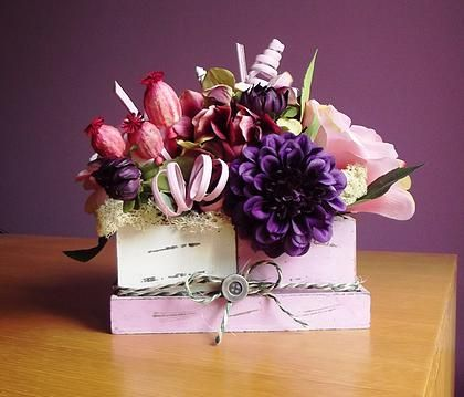 42 best dried and silk flowers arrangements and baskets images on la decor online shop faux flowers and dried plants in shabby chic planters although this arrangement contains several types of flowers purple dahlia mightylinksfo Choice Image