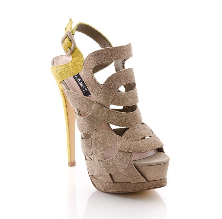 Stella: Blocks Platform, Platform Heels, Suede Heels, Shoemint With, Blocks Heels, High Heels, Colors Blocks, Platform Sandals, Beige Heels