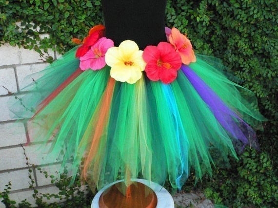 Tropical Tutu for Hula costume for facing down