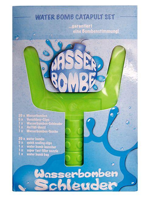 Wasserduelle machen weniger Spaß, wenn die Spritzpistolen ständig leer sind und man die Wasserbomben nicht so wirklich weit schmeißen kann ... Die Laune wieder nach oben katapultieren kann die Wasserbombenschleuder: Damit treffen Wasserbomben garantiert ihr Ziel!