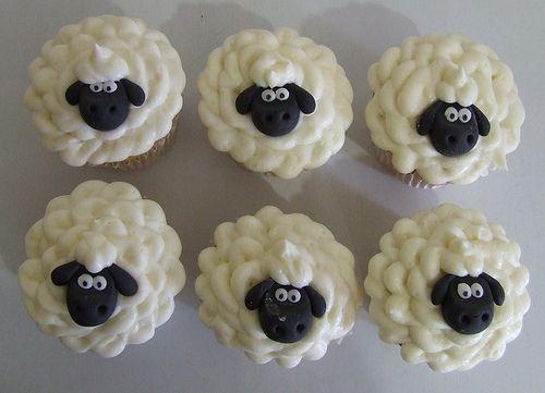 sheep cupcakesDesserts, Crafts Ideas, Birthday Parties, Food, Birthday Cupcakes, Cups Cake, Sheep Cupcakes, Shaun The Sheep, Cupcakes Rosa-Choqu