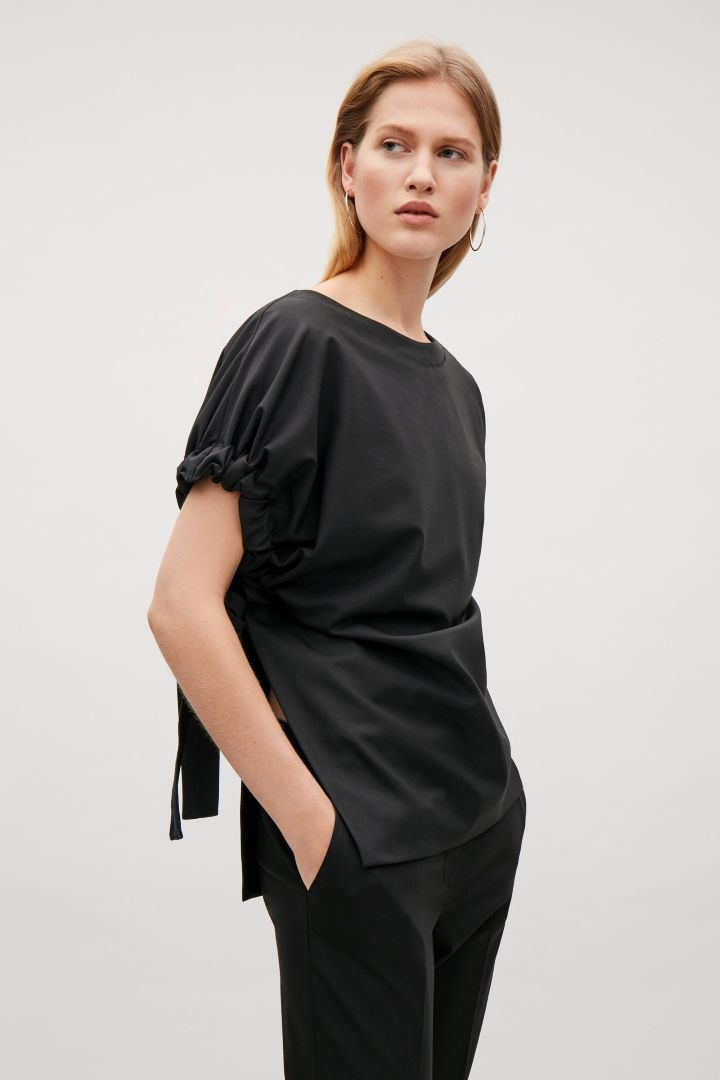 COS | Top with side drape