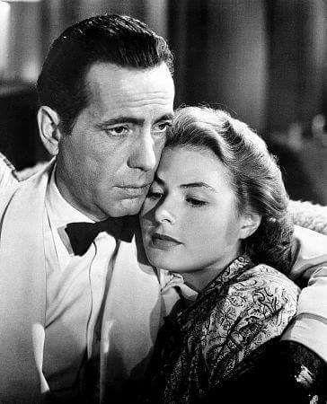 "Humphrey Bogart and Ingrid Bergman ""Casablanca"" Here's lookin at you kid"