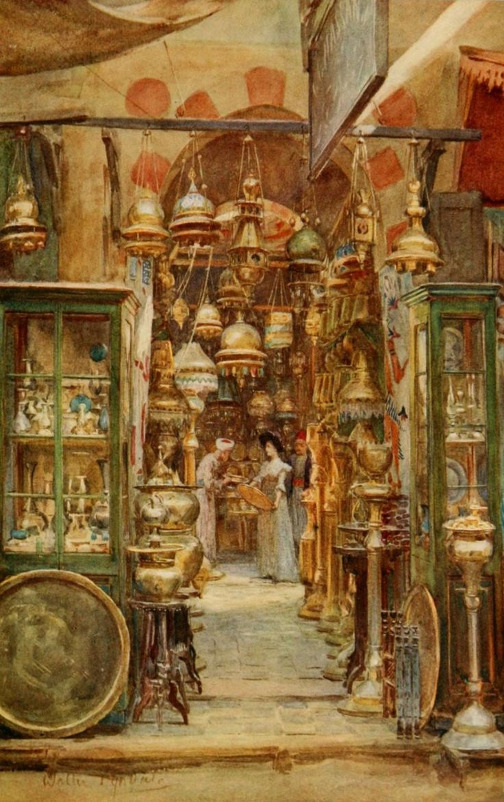 Tyndale, Walter (1855-1943) - An Artist in Egypt 1912, The store of Nassan. #egypt