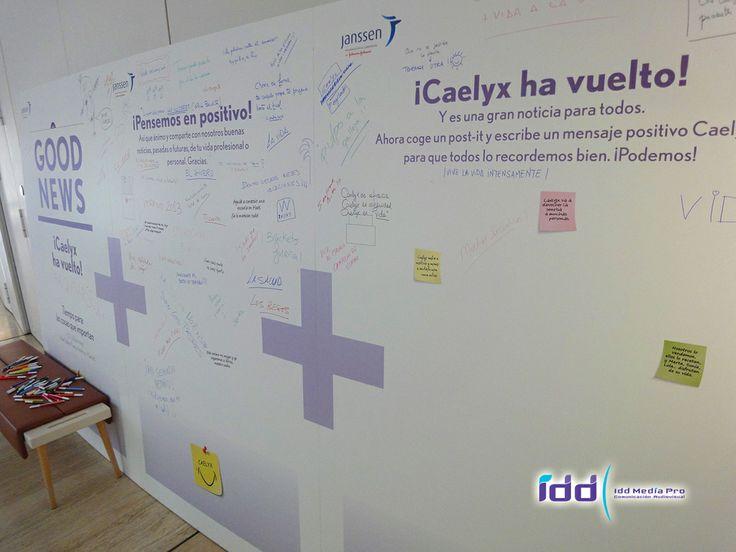 Acción Muro con mensajes