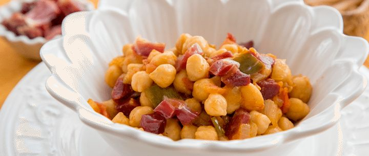 Recetas Legumbres | Receta Salteado de garbanzos con jamón