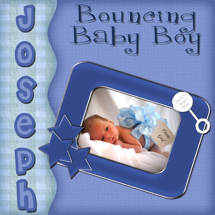 Baby Boy Example | Digital Scrapbooking at Scrapbook Flair