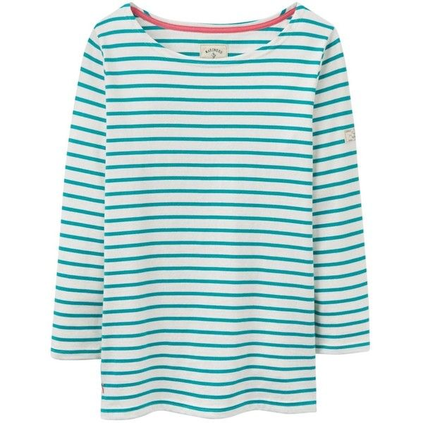 Women's Joules Harbour Jersey Top (7.395 HUF) ❤ liked on Polyvore featuring tops, bunny top, nautical stripe top, striped jersey, nautical tops and joules tops